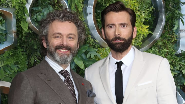 Michael Sheen and David Tennant at the Global TV Premiere of...