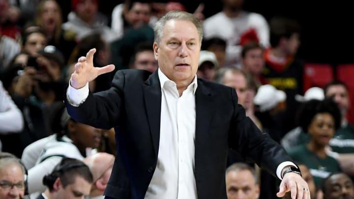 Michigan State men's basketball coach Tom Izzo