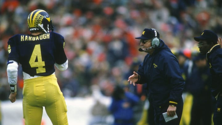 Jim Harbaugh and Bo Schembechler
