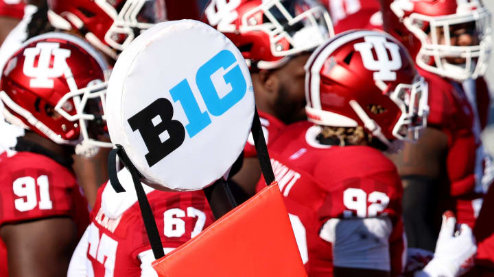 Big Ten logo, Michigan v Indiana
