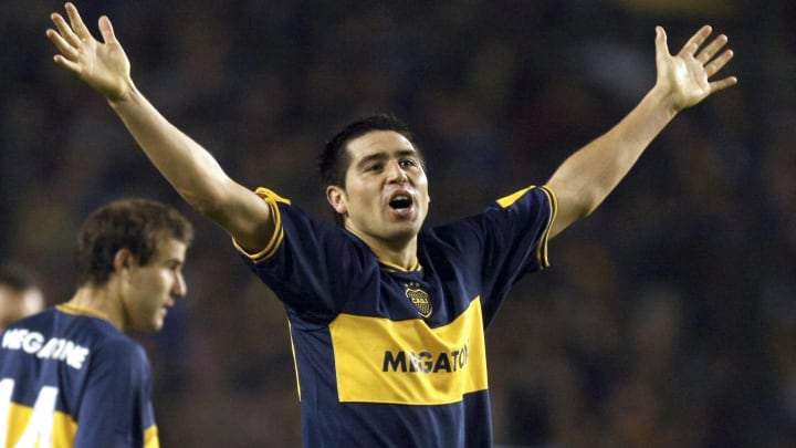 Midfielder Roman Riquelme of Boca Junior...