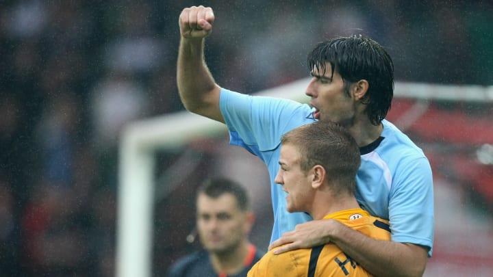 Vedran Corluka Joe Hart Manchester City