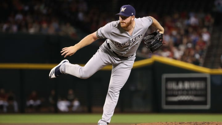 PHOENIX, ARIZONA - JULY 21:  Starting pitcher Brandon Woodruff #53 of the Milwaukee Brewers pitches against the Arizona Diamondbacks during the first inning of the MLB game at Chase Field on July 21, 2019 in Phoenix, Arizona. (Photo by Christian Petersen/Getty Images)