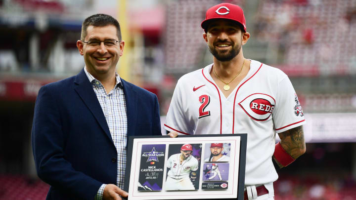The Cincinnati Reds have received some optimistic news on the latest Nick Castellanos injury update.