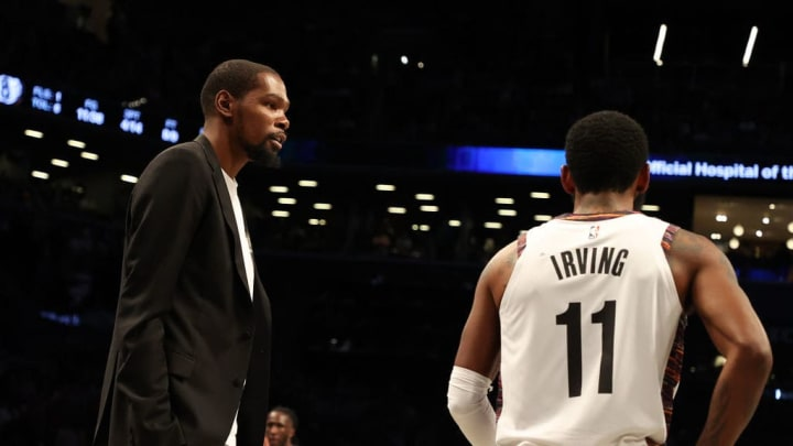 Brooklyn Nets stars Kevin Durant and Kyrie Irving