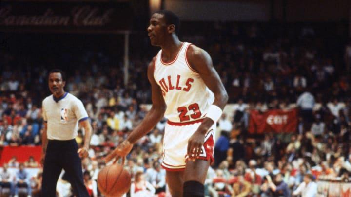 Michael Jordan as a rookie