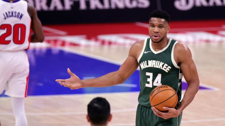 Giannis asking if trading for James Harden is legal.
