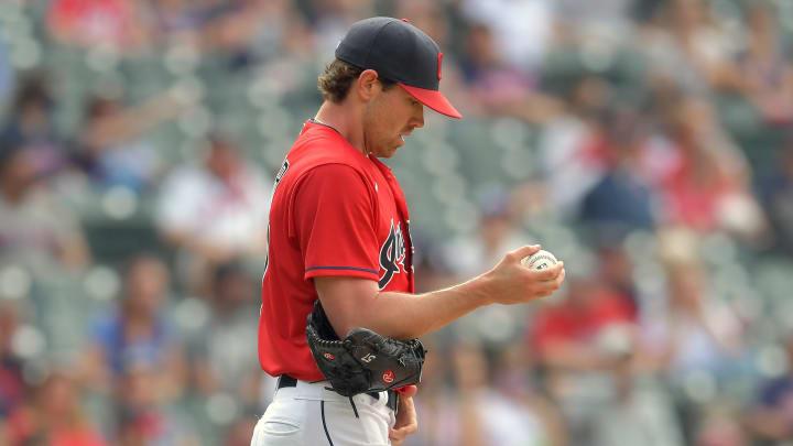 Shane Bieber leads Major League Baseball in strikeouts this season.