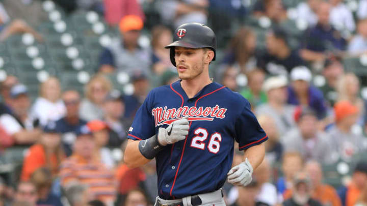 DETROIT, MI - AUGUST 31:  Max Kepler #26 of the Minnesota Twins runs the bases during the game against the Detroit Tigers at Comerica Park on August 31, 2019 in Detroit, Michigan. The Tigers defeated the Twins 10-7.  (Photo by Mark Cunningham/MLB Photos via Getty Images)