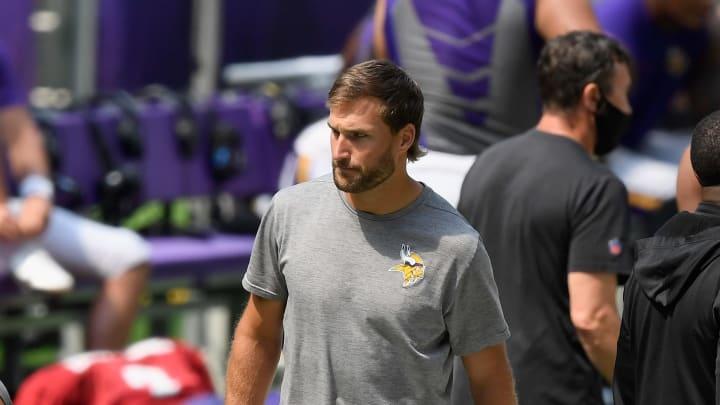 Kirk Cousins at Minnesota Vikings Training Camp