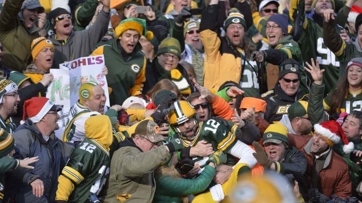 There won't be any Lambeau leaps in 2020, with the NFL filling front-row seatings with ad space as a coronavirus precaution.