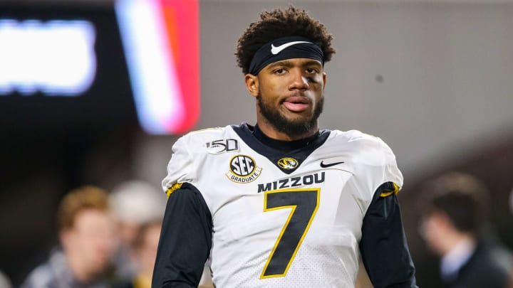 Quarterback Kelly Bryant as a member of the Missouri Tigers