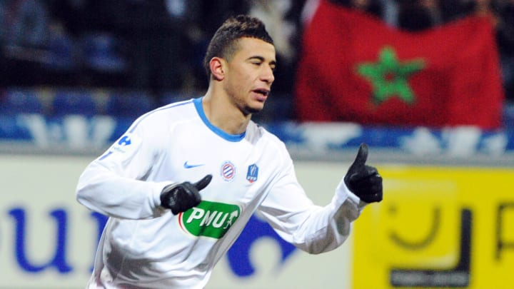 Montpellier's French midfielder Younes B