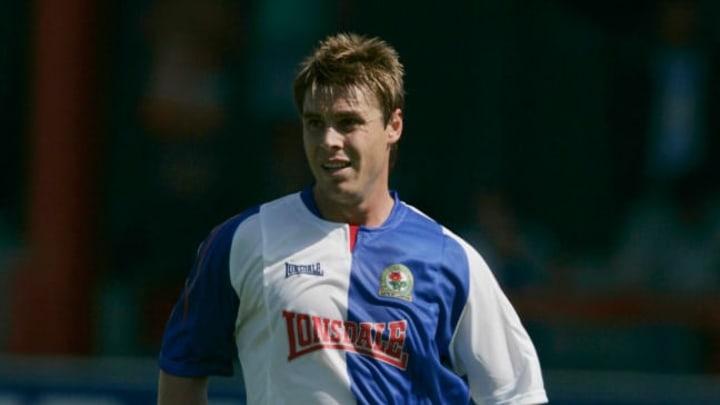 Garry Flitcroft in action for Blackburn