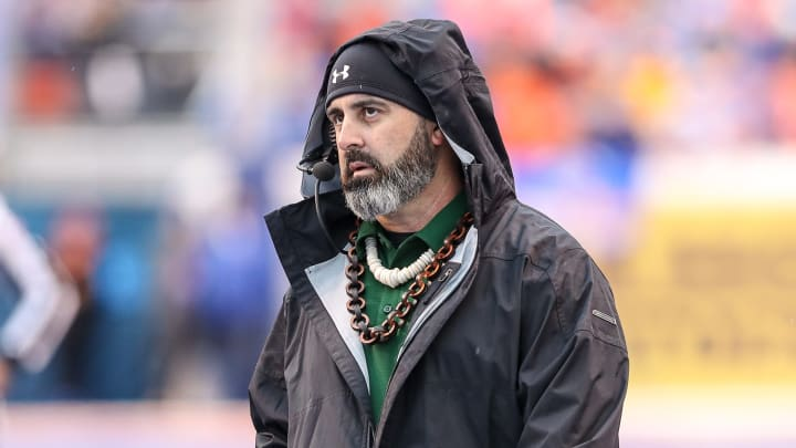 Nick Rolovich at the Mountain West Championship - Hawaii v Boise State