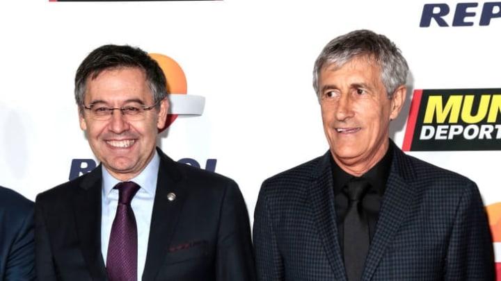 Quique Setien, Josep Maria Bartomeu