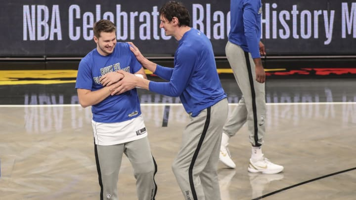 Dallas Mavericks Luka Doncic Boban Marjanovic