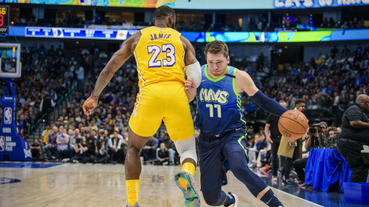 Dallas Mavericks Luka Doncic LeBron James