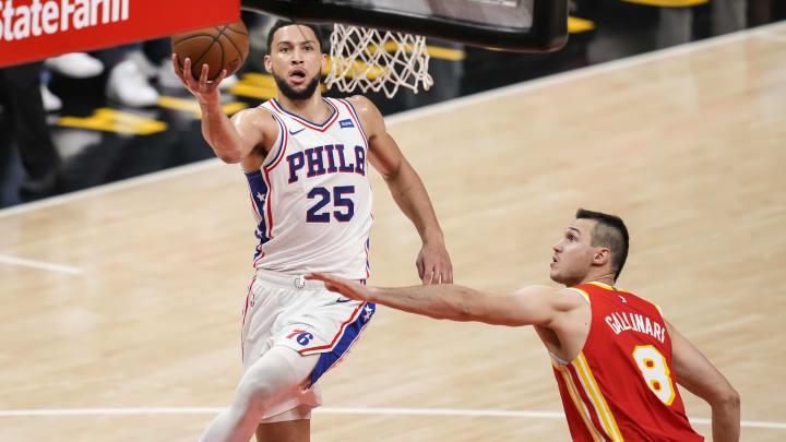 Jun 11, 2021; Atlanta, Georgia, USA; Philadelphia 76ers guard Ben Simmons (25)