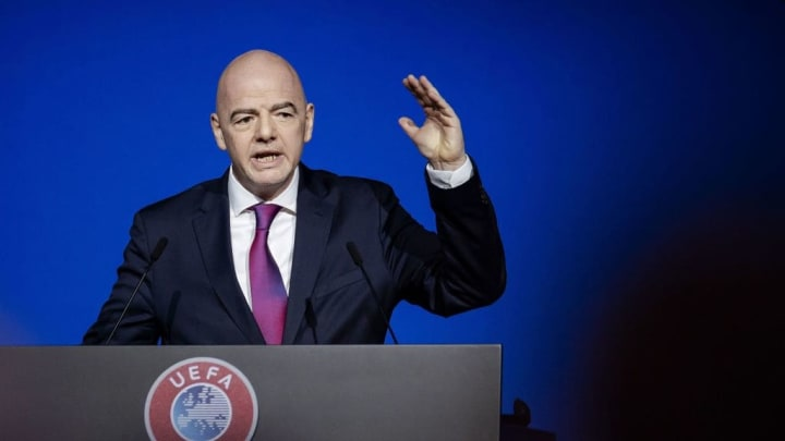 FIFA President Gianni Infantino has hinted at a 'common sense' approach to Black Lives Matter demonstrations in FIFA competitions