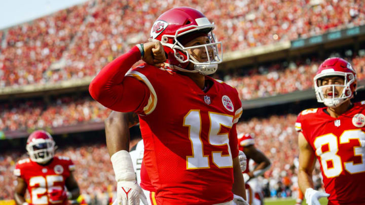 Mahomes and the Chiefs pulled off the comeback against the Browns to start 1-0. | Jay Biggerstaff-USA TODAY Sports