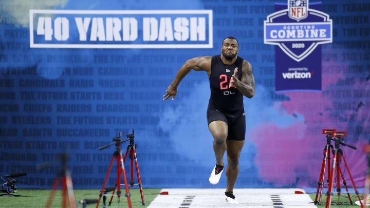 NFL combine 40 yard dash.