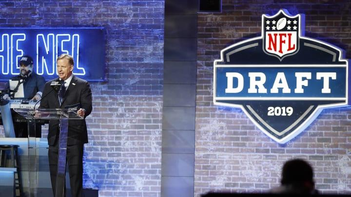 Roger Goodell live at the 2019 NFL Draft.