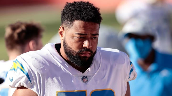 Los Angeles Chargers offensive tackle Trey Pipkins III (79)