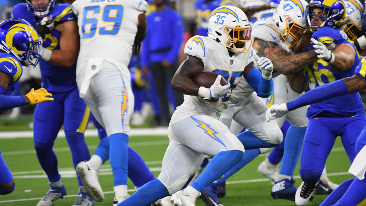Los Angeles Chargers running back Larry Rountree III