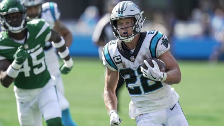 Christian McCaffrey has the Panthers top running back and receiver in their Week 1 game against the Jets.   Jim Dedmon-USA TODAY Sports