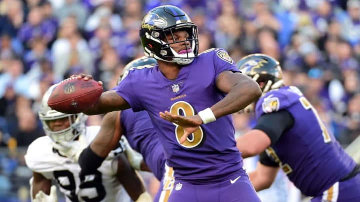 Lamar Jackson and the Ravens will face the Raiders in Week 1. | Evan Habeeb-USA TODAY Sports