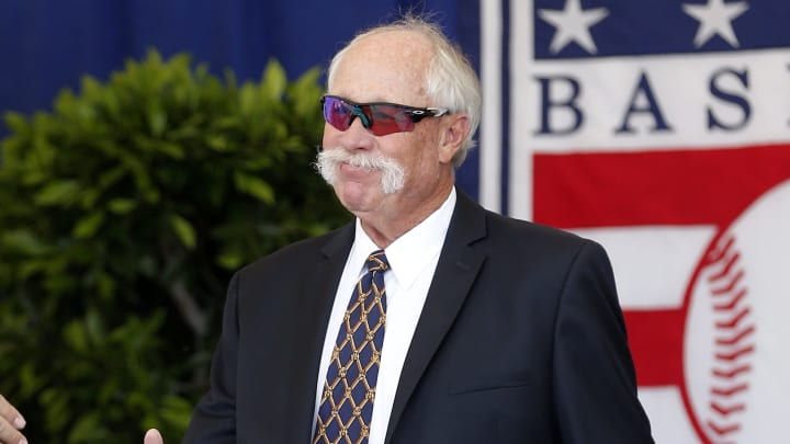 COOPERSTOWN, NEW YORK - JULY 21:  Hall of Famer Goose Gossage is introduced during the Baseball Hall of Fame induction ceremony at Clark Sports Center on July 21, 2019 in Cooperstown, New York. (Photo by Jim McIsaac/Getty Images)