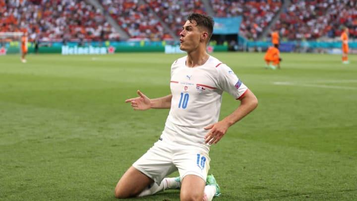 Patrik Schick República Tcheca Dinamarca Eurocopa Quartas de Final