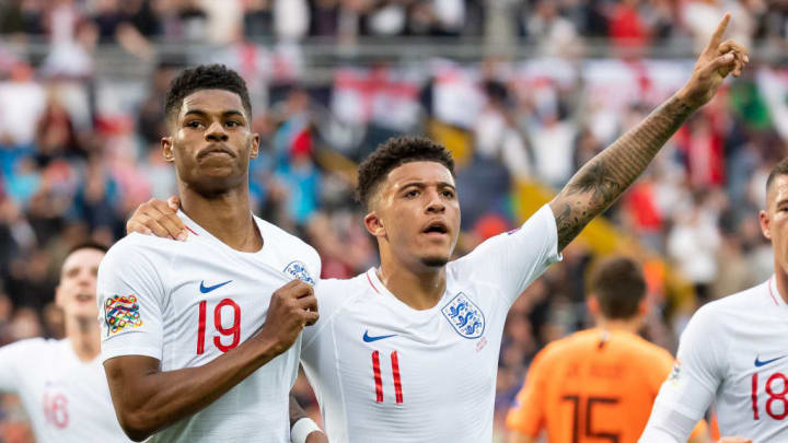 Marcus Rashford and Jadon Sancho on England duty