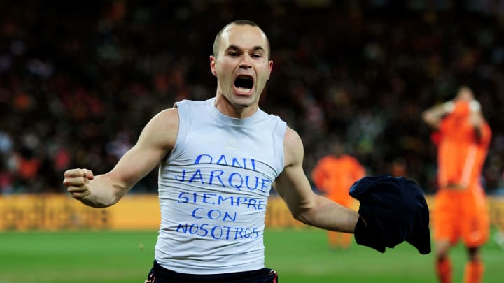 Andrés Iniesta Reveals How 2010 World Cup Final Helped Him Cope ...
