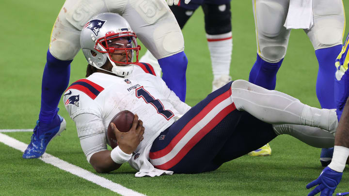 Cam Newton, New England Patriots v Los Angeles Rams