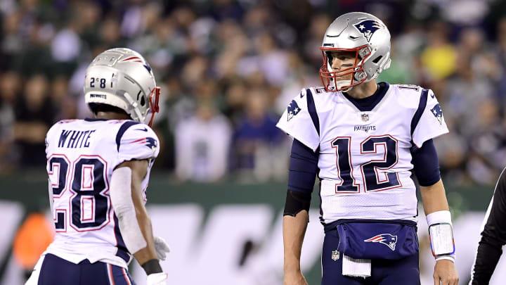 Tom Brady and James White