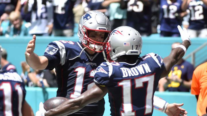Tom Brady and Antonio Brown.