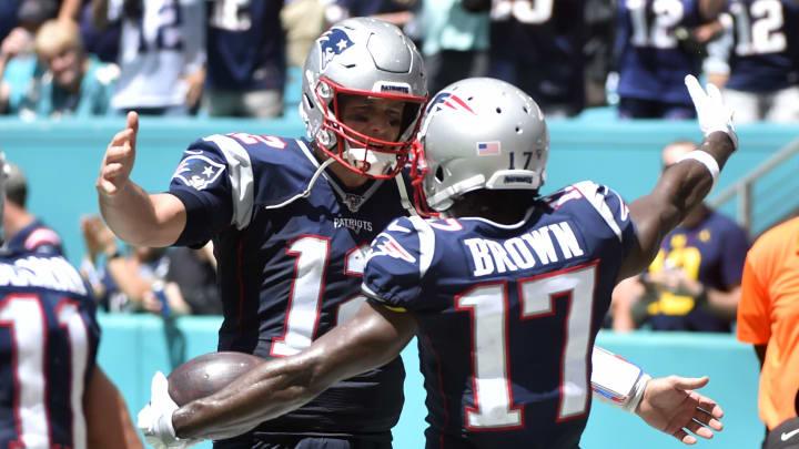 Tom Bray and Antonio Brown, New England Patriots vMiami Dolphins