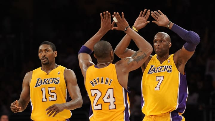 Kobe Bryant needed help to finish off his NBA Finals victories for the Lakers.