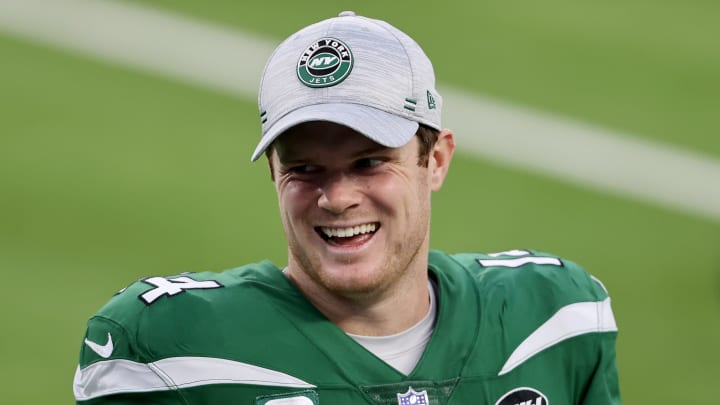 Sam Darnold during his Jets days.