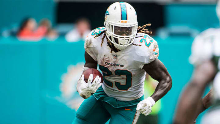 Jay Ajayi had one strong season with Miami, before demanding a trade in 2017.