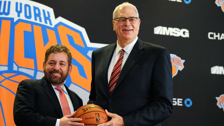 Phil Jackson and James Dolan during the good old days.