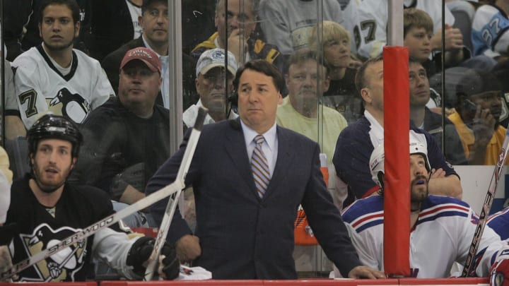 Mike Milbury during his coaching days.
