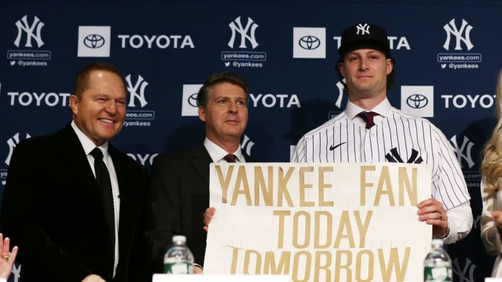 The New York Yankees introduce Gerrit Cole