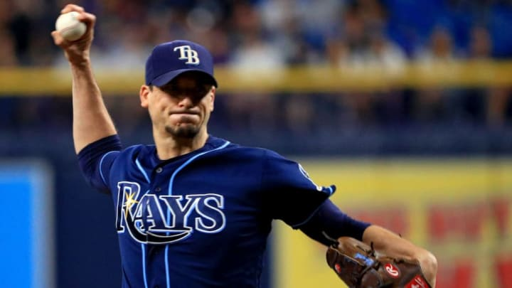 Tampa Bay Rays pitcher Charlie Morton in a game against the New York Yankees in 2019