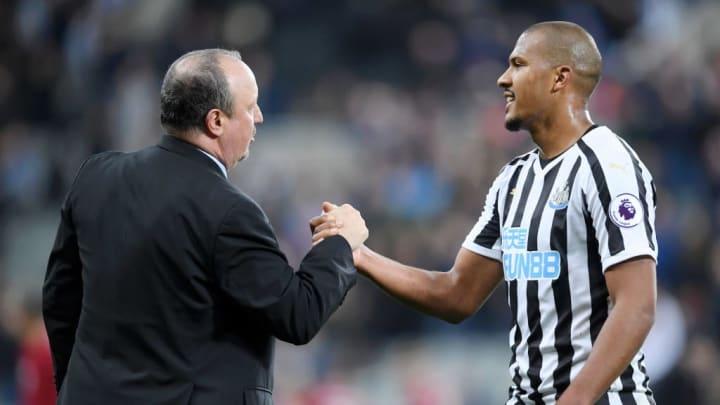 Rafa Benitez with Rondon during their time at Newcastle
