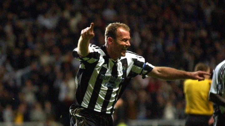 Newcastle's Alan Shearer celebrates afte