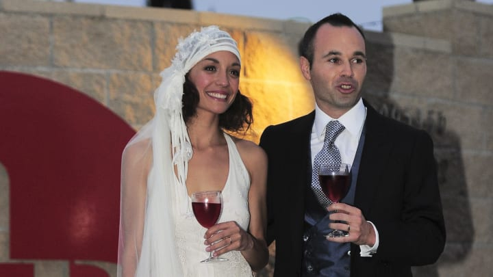 Newly wed Barcelona's midfielder Spanish