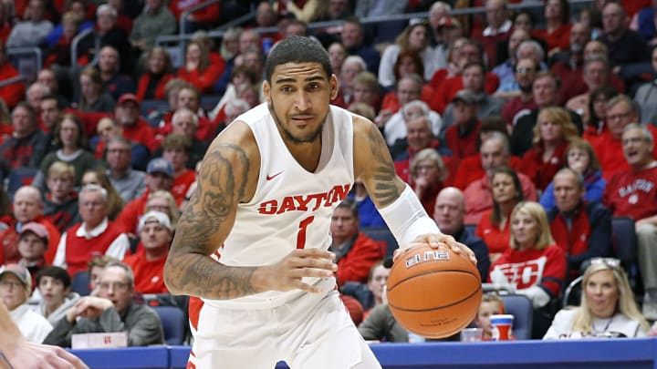Dayton's Obi Toppin drives to the basket against North Florida